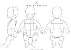 Baby body figure fashion template (D-I-Y your own Fashion Sketchbook) (Keywords: Fashion, Illustration, drawing, design, tool, App)