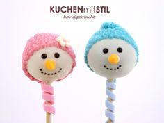 www.KUCHENmitSTIL.at Schneemann Cake Pops Snowman