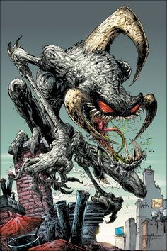 Violator (art by creator Todd McFarlane & Greg Capullo) - demon whose purpose is to guide the Hellspawn to serve the lord of Hell Malebolgia.