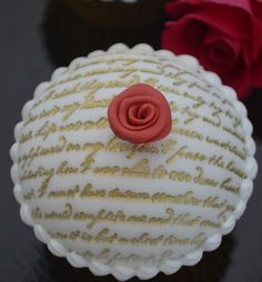 Lovely embossed cupcake from Hilary Rose Cupcakes