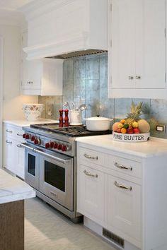 La Leaf Kitchen by Kyle Timothy Blood - modern - Kitchen - New York - Artistic Tile