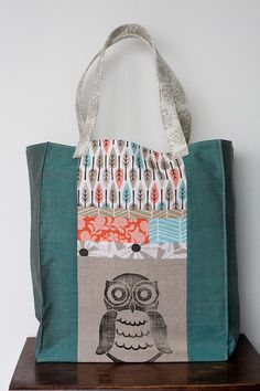 Loving Jeni's new owl tote!