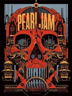 Poster de Pearl Jam por Claude Durand #Inspiracion vía @Design You Trust