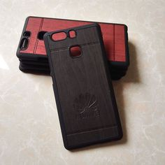 luxury wood plastic black original phone cases back cover coque case for huawei p9 p 9 hawei huwawei huawey armor accessories