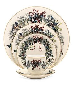 Lenox Dinnerware, Winter Greetings 5 Piece Place Setting - Fine China - Dining & Entertaining - Macy's