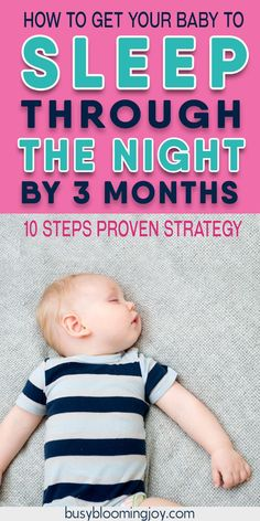 There are a lot of baby sleep tips out there – I swear by these 10.  Whether you are breastfeeding or formula feeding, they will help your newborn baby SLEEP THROUGH THE NIGHT BY 3 MONTHS.  So traditional cry-it-out sleep training methods won't be necessary! Baby Sleep Through Night, Sleeping Through The Night, Baby Massage, Baby Schlafplan, Baby Monat Für Monat, Sleep Training Methods, Baby Sleep Training, Baby Sleep Schedule, Newborn Schedule