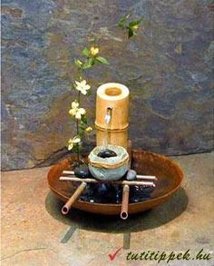 Give your abode the beauty of moving water using the Nature Well Table Fountain from Exalted Fountains. The Nature Well offers a unique design which includes a handmade copper bowl, bamboo and cast stone. Small Fountains, Indoor Water Fountains, Indoor Fountain, Garden Fountains, Garden Ponds, Tabletop Water Fountain, Diy Fountain, Bamboo Water Fountain, Miniature Zen Garden