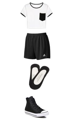 """""""hyun's outfit1"""" by thatanimeefreakk on Polyvore featuring WithChic, adidas, Aéropostale and Converse"""