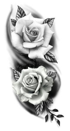 tattoo sketches's photos # photos # tattoos # sketches - myeasyidea sites Skull Rose Tattoos, Rose Flower Tattoos, Rose Tattoos For Men, Black Rose Tattoos, Body Art Tattoos, Hand Tattoos, Tattoos For Guys, Tattoos For Women, Side Tattoos