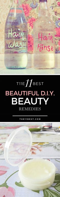 The 11 Best DIY Beauty Remedies. DIY beauty cream, body wrap recipe, hair mask, lip gloss, cellulite scrub, and more!