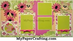 Layout featuring paper from the Blossom Song Stack Scrapbook Sketches, Scrapbook Pages, Scrapbooking Ideas, Scrapbook Layouts, Paper Crafts, Diy Crafts, Ebay Listing, Page Layout, Digital Stamps