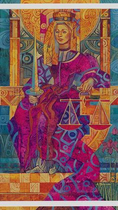 The Crystal Tarot - Justice Find out what Justice means for you: www.tarotbyemail.com
