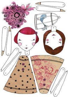 Tutoriales y DIYs: Muñecas de papel                                                                                                                                                                                 Más