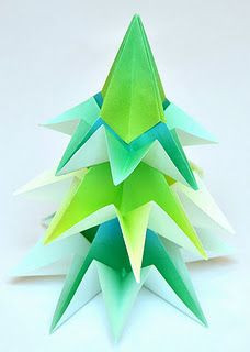 Origami Tree Tutorial and other DIY Christmas party decorations