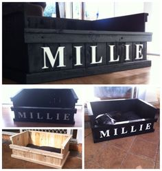 Pallet timber dog bed!!!!!!!   To see other things we have made from pallet timber follow us on Facebook at Wood'n'stuff Adelaide https://www.facebook.com/pages/WoodnStuff-Adelaide/1408405312770539?ref=hl - Tap the pin for the most adorable pawtastic fur baby apparel! You'll love the dog clothes and cat clothes! <3