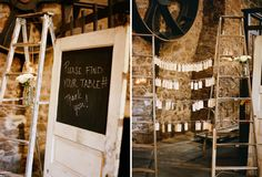 check out the chalkboard on the door:::(we wouldn't actually paint ours though) Handmade Fall Barn Wedding: Tara + Nick