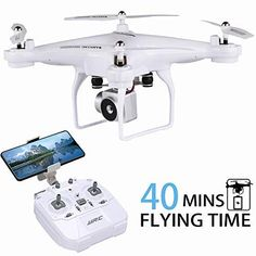 Best Drone with Camera. Flight Time Drone, JJRC RC Drone with HD Camera Live Video FPV Quadcopter with Headless Mode, Altitude Hold Helicopter with 2 Batteries( Rc Drone With Camera, Pilot, New Drone, Drone Diy, Professional Drone, Flying Drones, Drone For Sale, Drone Technology, Rc Helicopter