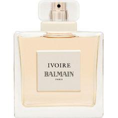 Ivoire eau de parfum (£39) ❤ liked on Polyvore featuring beauty products, fragrance, perfume, fruity perfumes, balmain fragrance, floral perfumes, eau de parfum perfume e balmain