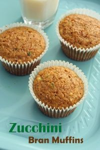 Zucchini Bran Muffins.  Not only will your kids love these, but your waistline will too!  Only 113 calories per muffin!