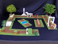 Riding stables for sneak horses - CoCu the children& horse shop - schleich Riding Stables, Horse Stables, Diy For Kids, Crafts For Kids, Play Horse, Schleich Horses Stable, Horse Shop, Bryer Horses, Toy Barn