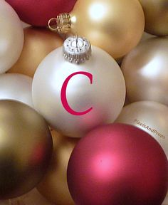 Uppercase letter C | #alphabet #typography #initial #monogram #font | Christmas Ornaments #xmas #christmas | Christmas Decoration | Happy Holidays