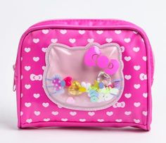 Hello Kitty Pouch: Beads want this for my makeup I'm my purse so cute