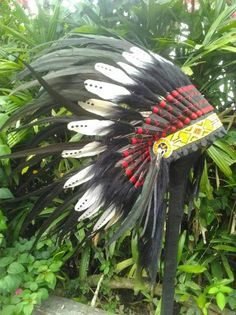 Double Feather Kid Indian Headdress, indischer Kopfschmuck, Coiffe Indienne Headdress, Clothing, Indian, Children, Indian Head Jewelry, Outfits, Fascinators, Outfit Posts, Headpiece