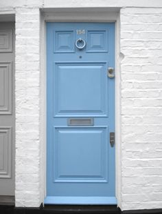 COTTAGE AND VINE: The Blue Front Door