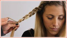 Repeat steps 3 and 4 until you reach the end of your hair and secure with a hair tie. Messy Braids, Cool Braids, Braids For Short Hair, Short Hair Styles, Bump Hairstyles, Braided Hairstyles Tutorials, Wedding Hairstyles, Braid Front Of Hair, Bohemian Braids