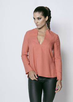 CHEMISE CREP via creationbiijoux123. Click on the image to see more! e-shop http://creationbiijoux123.tictail.com/ #ootd #outfit #top#chemisier #mode #fashion #tenuedujour #tenue #creationbiijoux123 #pink