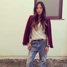 Aimee Song in the Super Baggies #oneteaspoon