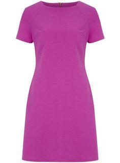 Purple Cotton Pique Shift Dress - View All Dresses - Dresses