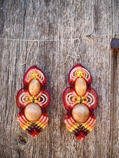 Ah Kinchil Macrame Earrings - Tierra de Maya Series. $29.00, via Etsy.