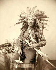 """Little"" was the instigator of the Pine Ridge Indian revolt. 1890"