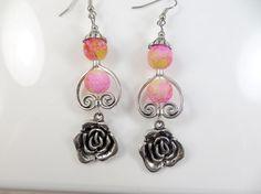 Yellow rose earrings by jewelryandmorebykat on Etsy, $10.00