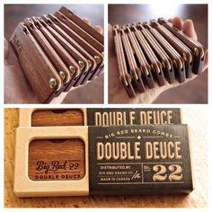 First batch of #doubledeuce No.22 combs rolling out of the shop with all new packaging. There's gonna be some happy beards out there real soon. #bigredbeardcombs #beard #beards #bearded #beardoil #beardbalm #beardclub #mustachewax #woodcomb #beardgang #beardlife