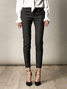 SAINT LAURENT  Gabardine skinny trousers (142642)    $725