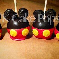 Mickey Mouse Candy Apples by TKSweetTreats on Etsy