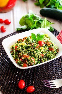 Spinach Quinoa Tabbouleh