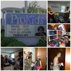 Thanks to PKYP -- and a great group of volunteers -- dozens of backpacks were loaded with supplies. Now, CASA volunteers will pass them onto their ProKids children in time for the upcoming school year.