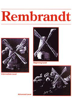 "Rembrandt Art Projects for Kids: With the aid of a flashlight, the children will understand Rembrandt van Rijn's special technique of painting highlights and shadow. This special ""Rembrandt Lighting"" was carried over to their own artwork in special Dutch landscapes."