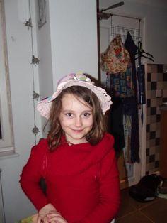 Jean wearing her sisters Easter Bonnet