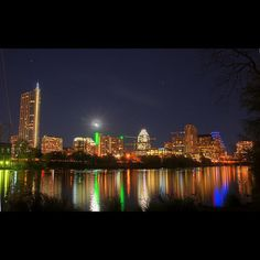 Downtown Austin Skyline @ Night