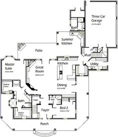 House Plans by Korel Home Designs- love this floor plan
