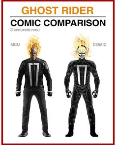 """7,162 curtidas, 168 comentários - • Accurate.MCU • mcu fanpage (@accurate.mcu) no Instagram: """"• GHOST RIDER - COMIC COMPARISON • Imo the mcu's Ghost rider looks perfect. Really looking forward…"""""""
