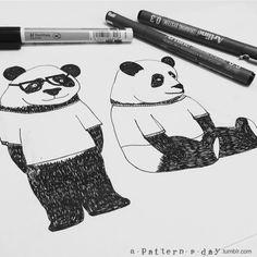 Sketching some panda's :)