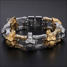 We introduce our brand new Motorcycle chain bracelet! Its stainless steel, high…