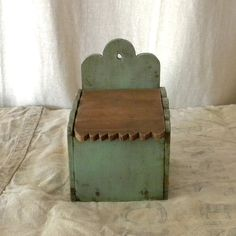 Vintage French country wooden salt box
