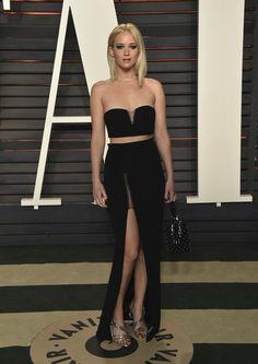 Jennifer Lawrence at Vanity Fair Oscars Party 2016   POPSUGAR Celebrity