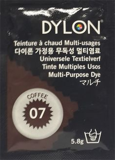DYLON MULTI PURPOSE 5.8 g COFFEE (07) Windsor, Purpose, Household Products, Coffee, Black, Tie Dye, Black People, Coffee Art, Cup Of Coffee